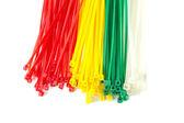 Closeup group Nylon Cable Ties — Stock Photo
