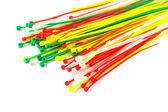 Multicolor Nylon Cable Ties — Stock Photo