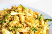 Closeup Gebakken krab met curry — Stockfoto