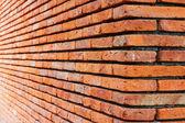 Perspective Brick wall — Stock Photo