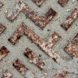 Stock Photo: Background of Drain cover closeup