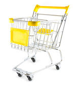 Shopping cart on white background — Stock Photo