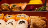 Closeup rice roll in box set — Stock Photo