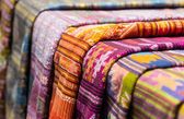 特写织物泰国东北风格 — 图库照片