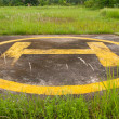 Stock Photo: Helipad on jungle closeup
