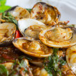 Stir fried shellfish with chili sauce — Stock Photo