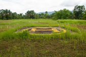 Helipad on jungle — Stock Photo
