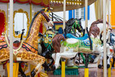 Seat in Merry go round at carnival — Stock Photo