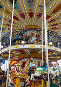 Merry go round in carnival vertical — Stock Photo