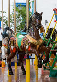 The Horse in merry go round at carnival — Stock Photo