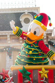 DONALD DUCK - DEC 31: Celebrate Christmas New Year Festival on December 31, 2012 in Disneyland, Hong Kong — Stock Photo