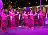 Women dance thailand northeast culture style — Foto de Stock