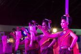 The show women dance thailand northeast culture style — Foto de Stock