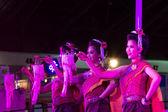 Die karte-frauen tanzen thailand nordost kultur stil — Stockfoto