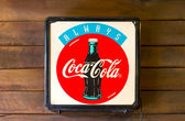 Classic light box coca-cola brand — Stock Photo