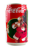 A can of Coca Cola Christmas theme isolated on white background. — Stock Photo
