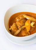 Muslim-style curry with chicken and potatoes — Stock Photo