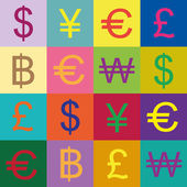 Currency symbols vector design — Stock Vector