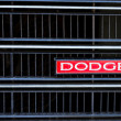 The Dodge SE classic car logo show on front grille — Stock Photo #48674725