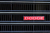 The Dodge SE classic car logo show on front grille — Stock Photo