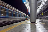 The fast train leaving from station — Stock Photo