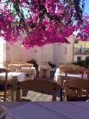 Traditoinal Greece tavern. Crete. — Stock Photo