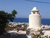Beautiful houses in Greece, Crete — Stock Photo