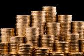 Złote monety. — Zdjęcie stockowe