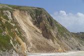 沿岸地すべり、ドーセット、英国の主要な — ストック写真