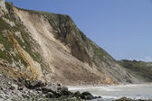 Major coastal landslide and rockfall , Dorset,UK — Stock Photo