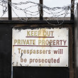 Private property warning sign — Stock Photo