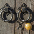 Stock Photo: Old doorknob and handles