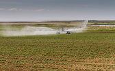 Crop irrigation, Norfolk, England — Stock Photo