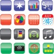 Iphone and Ipad Icons - Set 1 — Stock Vector #11017284