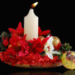 CENTERPIECE BLACK CHRISTMAS — Stock Photo