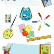 Set of school tools — Stock Vector
