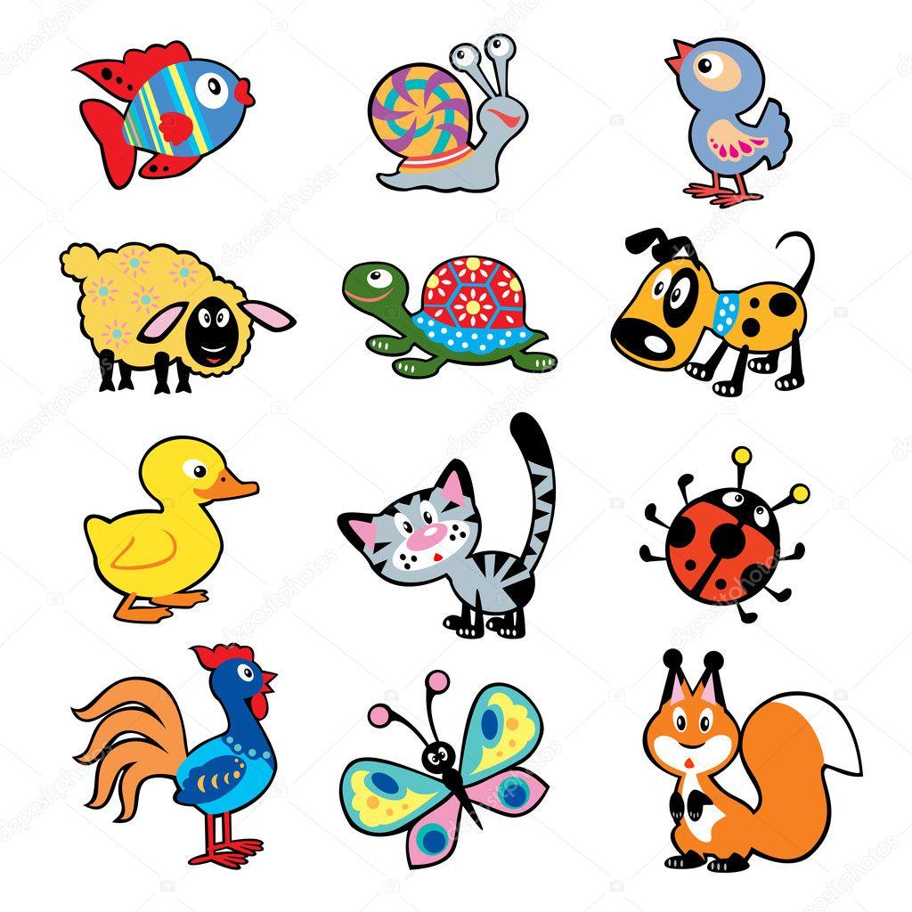 Foto de simple ni os con animales vector de stock - Imagenes animales infantiles ...