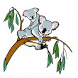 Royalty-Free Stock Vector Image: Koala with joey