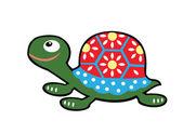 просто по-детски черепаха — Cтоковый вектор