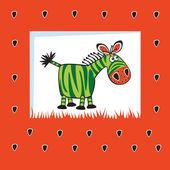 Cute fruity zebra — Stock Vector