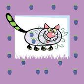 Cute fruity cat — Stock Vector