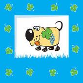 Cute fruity dog — Stock Vector