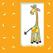Cute fruity giraffe — Stock Vector
