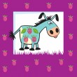 Royalty-Free Stock Vector Image: Cute fruity donkey