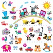 Vector set of simple childish pictures — Stock Vector #12928565