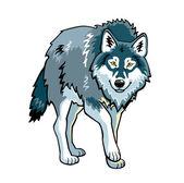 Staande wolf op wit — Stockfoto