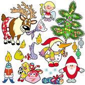 Christmas set for children — Stock Vector