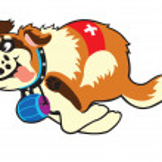 Cartoon st bernard hond — Stockvector