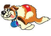 Cartoon st bernard dog — Stock Vector