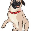 Pug dog — Stock Vector